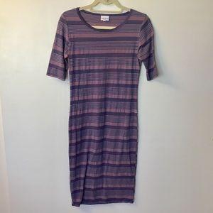 Lularoe Striped Julia Dress - Small